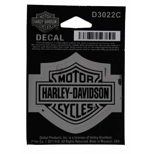 Sticker Bar & Shield chrome, petite taille, Harley-Davidson D3022C