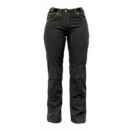 Jeans Gaby femme bâche de coton noir, 5 poches, Helston's