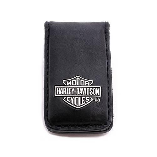Porte billets Bar & Shield, cuir noir, aimanté, Harley-Davidson 99452-06V