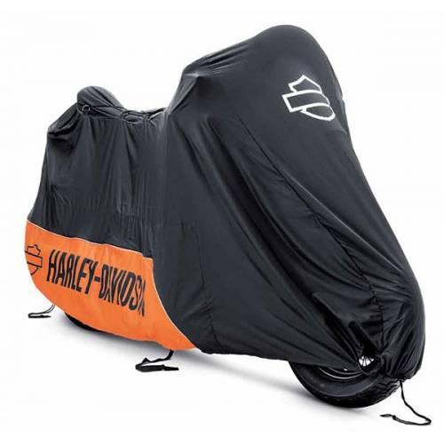 Masque cuir noir motorcycles legend shop for Housse moto harley davidson