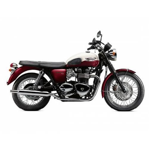 Miniature Triumph Bonneville T100, rouge, blanc, echelle 1/18, Triumph MMOA12171