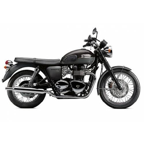 Miniature Triumph Bonneville T100, noir, gris, echelle 1/18, Triumph MMOA12170