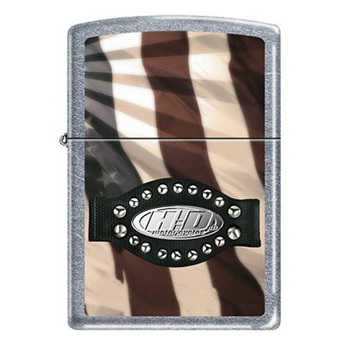 Zippo essence H-D drapeau US, métal, 810812