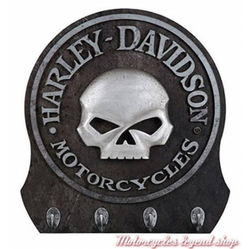 Porte clés mural Skull, 4 crochets Harley-Davidson HDL-15313