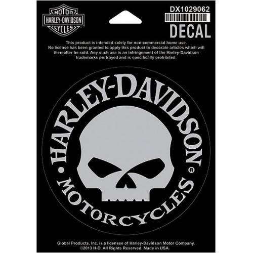 Sticker Skull Willie G. de vitre, intérieur, Harley-Davidson DX1029062