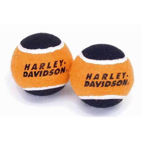 Balles de jeu x 2, tennis, souple, noir et orange, Harley-Davidson H8400P05