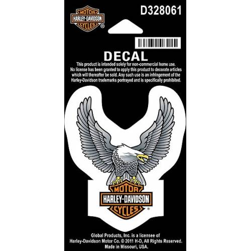 Stickers Upwing Eagle silver, petit modèle, Harley-Davidson D328061