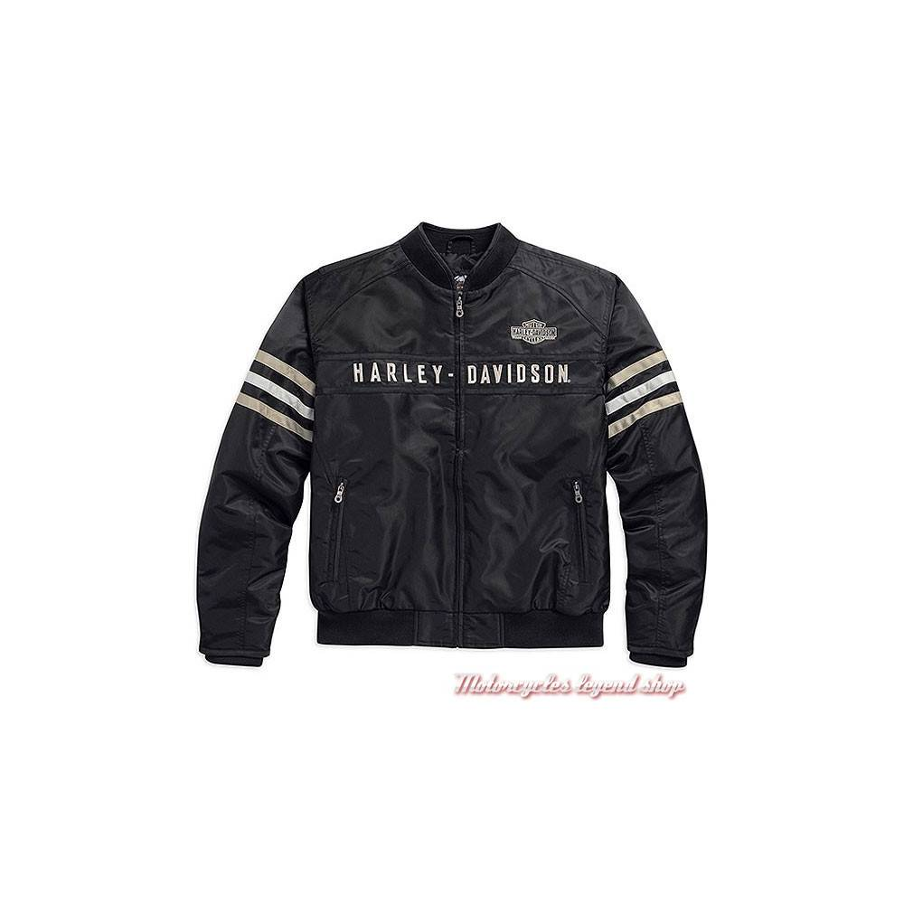 blouson textile bomber heritage harley davidson motorcycles legend shop. Black Bedroom Furniture Sets. Home Design Ideas