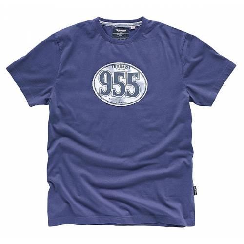 Tee-shirt McQueen Patch, homme, coton, bleu, manches courtes, Triumph MTSS15090