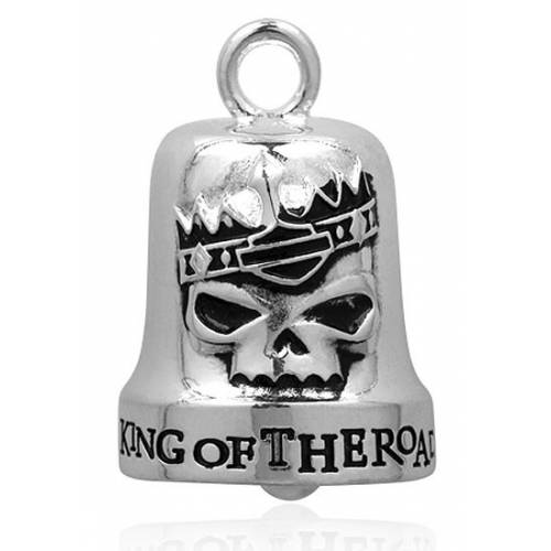 Clochette King of the Road, metal argenté, Harley Davidson HRB008