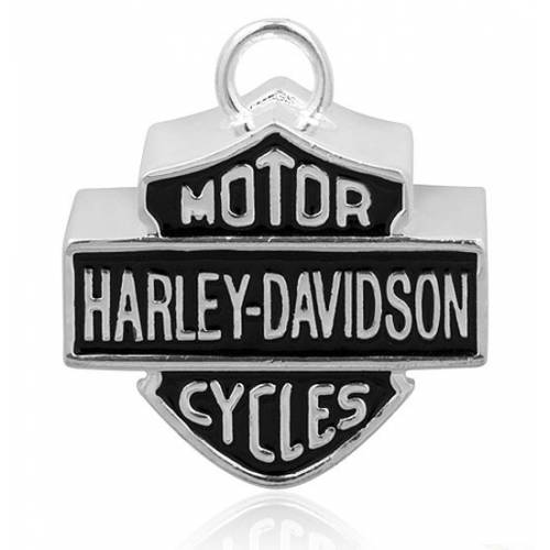 Clochette Large Bar & Shield , metal argenté et noir, Harley Davidson HRB024