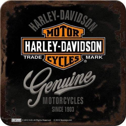 Dessous de verre Genuine, metal, Harley Davidson 46101