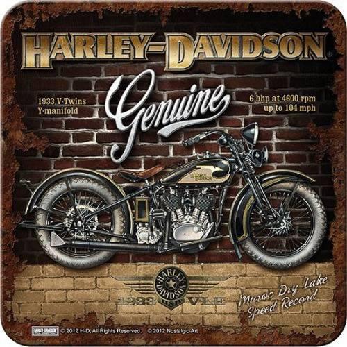 Dessous de verre Brick & Bike, metal, Harley Davidson 46104