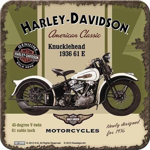 Dessous de verre American Classic, Knucklehead 1936, metal, Harley Davidson 46105