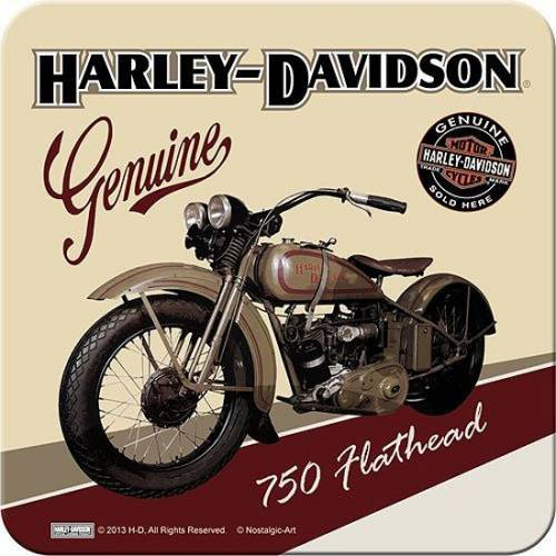 Dessous de verre American Classic, 750 Flathead, metal, Harley Davidson 46106
