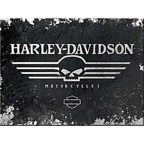 Magnet H-D Skull, vintage, Harley-Davidson 14300