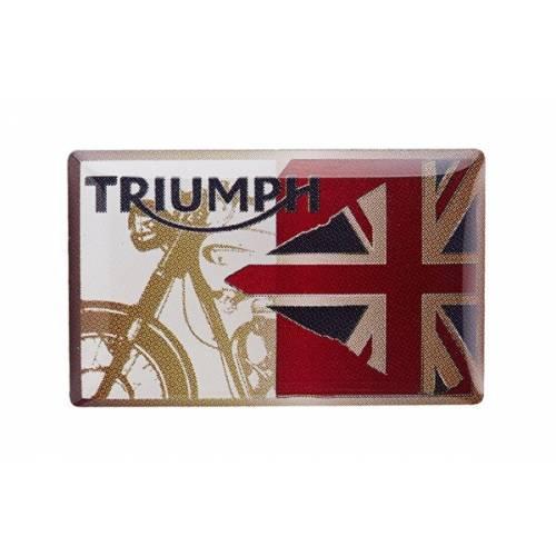 Pin's Flag & Denim, metal, beige rouge et bleu, Triumph MPBS15317