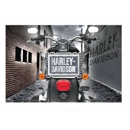 Pin's H-D métal + carte postale, moto, enveloppe, Harley-Davidson 181134