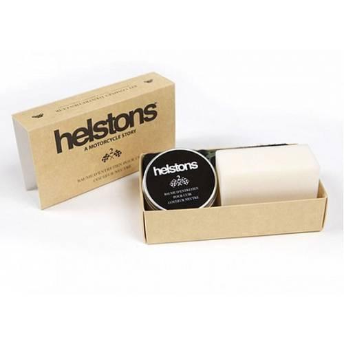 Kit d'entretien cuir baume incolore, Helston's