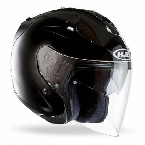 Casque FG-Jet noir metal, Kevlar et fibre de verre, HJC