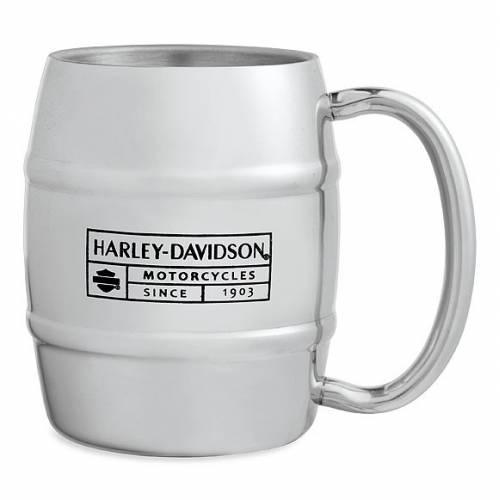 Mug Whiskey Barrel Black Label, 25 cl, acier inoxydable, Harley-Davidson 96887-15V