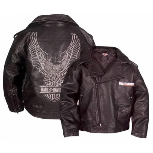 Perfecto simili cuir enfant, noir, aigle, Harley-Davidson