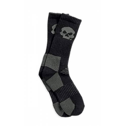 Chaussettes Skull homme, noir, gris, taille unique, Harley-Davidson 97627-16VM