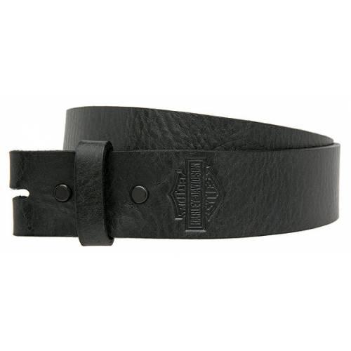 Sangle ceinture B&S homme, cuir noir, sans boucle, Harley-Davidson HDMST10991