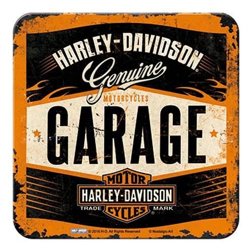 Dessous de verre Garage, metal, Harley Davidson 46142