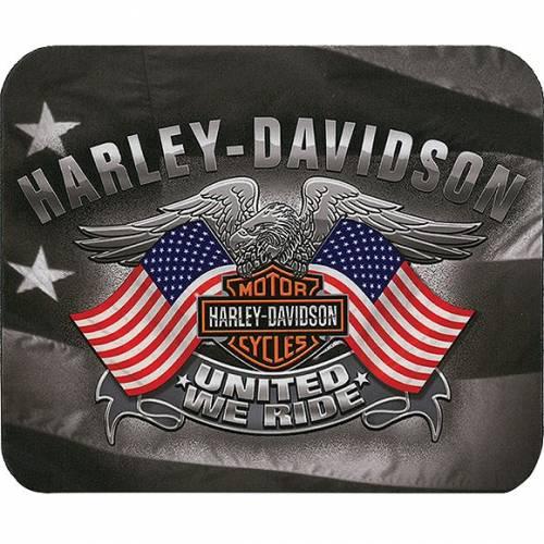 Tapis de souris United We Ride, neoprene, fin, Harley-Davidson MO12584