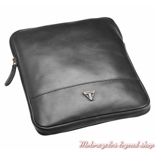 Etui cuir Tablette numerique, zippé, cuir noir, Triumph MLUA16202