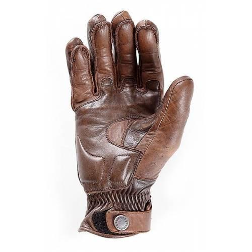 Gant cuir Vitesse Pro été homme, marron, coque carbone, kevlar, Helston's
