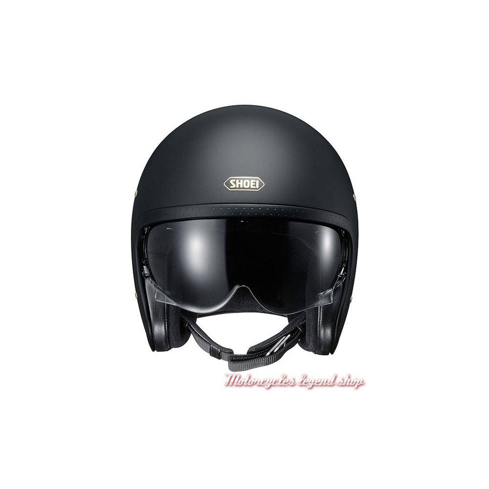 casque j o noir mat shoei motorcycles legend shop. Black Bedroom Furniture Sets. Home Design Ideas