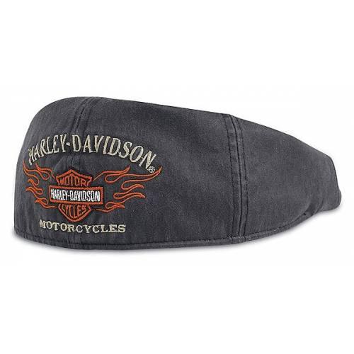 Casquette Ivy textile Flame homme, noir, coton, Harley-Davidson 99537-11VM