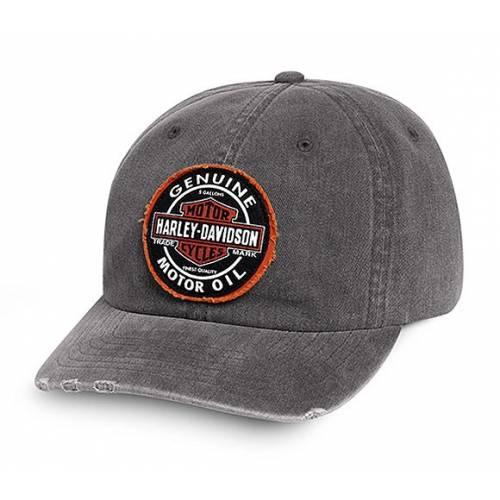 Casquette baseball Genuine Oil homme, coton, usé, grise, Harley-Davidson 99411-16VM