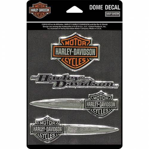 4 Stickers Bar & Shield Collection relief, Harley-Davidson DC16506