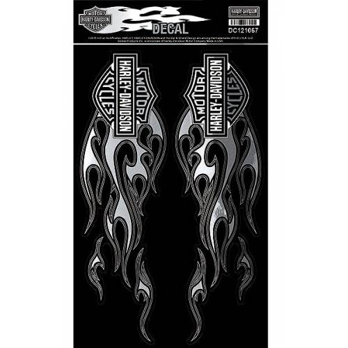 2 Stickers Chrome Fire, grand format, Harley-Davidson DC121067