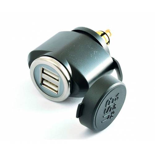 Adaptateur double USB, 12 V~24 V, Tecno Globe, ADAP.DIN.2USB