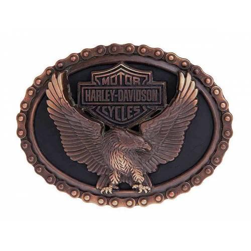 Boucle Vintage Glory homme, métal cuivré, aigle, Harley-Davidson HDMBU11042