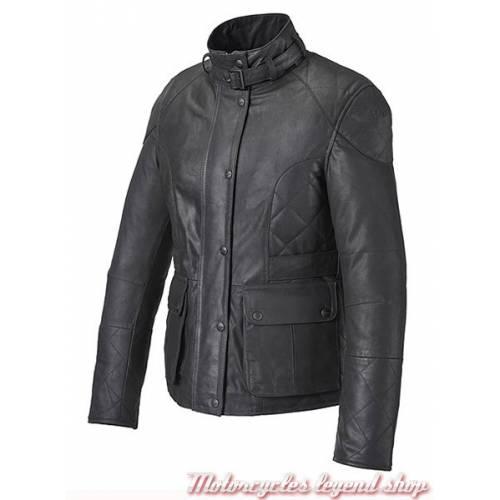 Veste cuir Triumph Penny femme, cuir noir, souple, Triumph MLLA16201