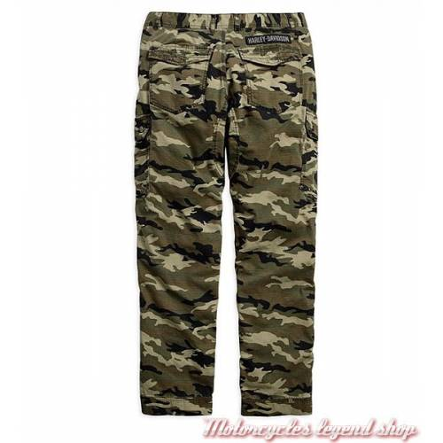 Pantalon Cargo Camouflage Harley-Davidson homme, coton, ripstop, gris, multi poches, Harley-Davidson 96416-17VM