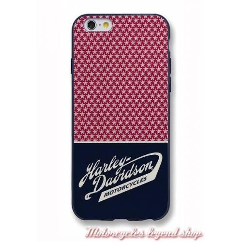 Coque iPhone 7 Americana Stars, rouge, bleu navy, blanc, Harley-Davidson 7824