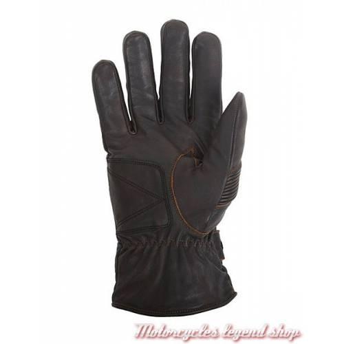 Gant cuir Brod hiver Helstons, homme, marron, noir, doublés Primaloft