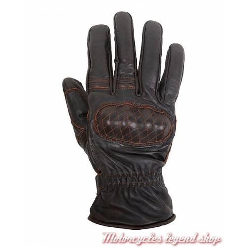 Gant cuir Michi hiver Helstons, homme, marron, coque carbone, doublés Primaloft