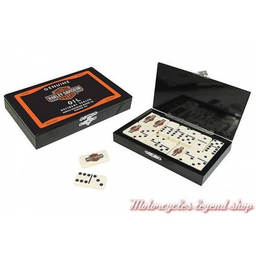 Coffret Jeu de dominos Harley-Davidson, boite laquée noire, 66919
