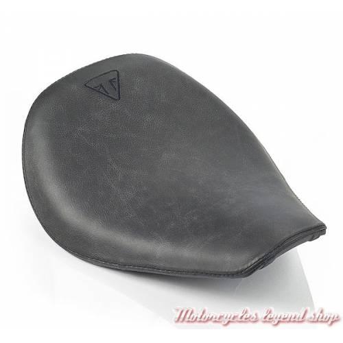 Selle Exclusive Bobber Triumph, cuir noir, A9700481