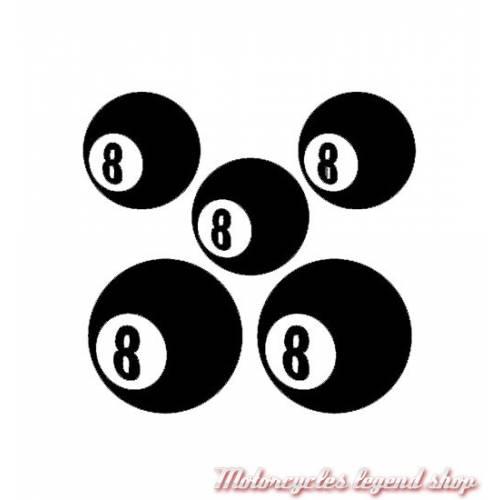 5 Stickers réfléchissants Eight Bal lpour casque, SBR07