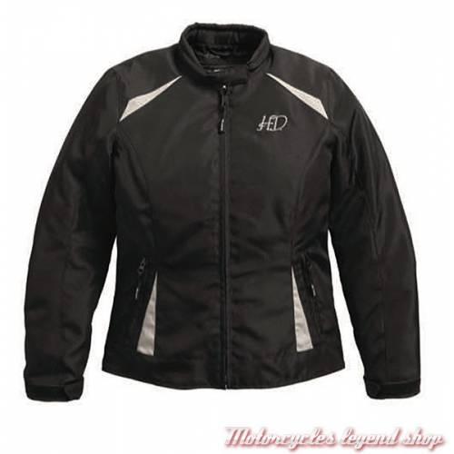 Blouson textile Rumor Harley-Davidson femme noir, polyester, imperméable, homologué, 97219-17EW