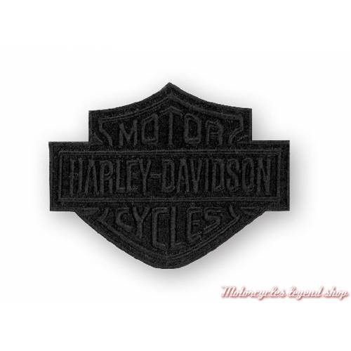 petit Patch Bar & Shield Black Harley-Davidson, noir, EM302302