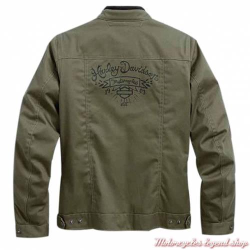 Blouson textile Kellster Harley-Davidson femme, kaki, coton, polyester, homologué CE, 97357-17EW
